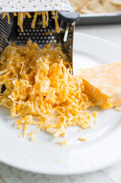 Colby-Jack cheese perfect for cheesy nachos