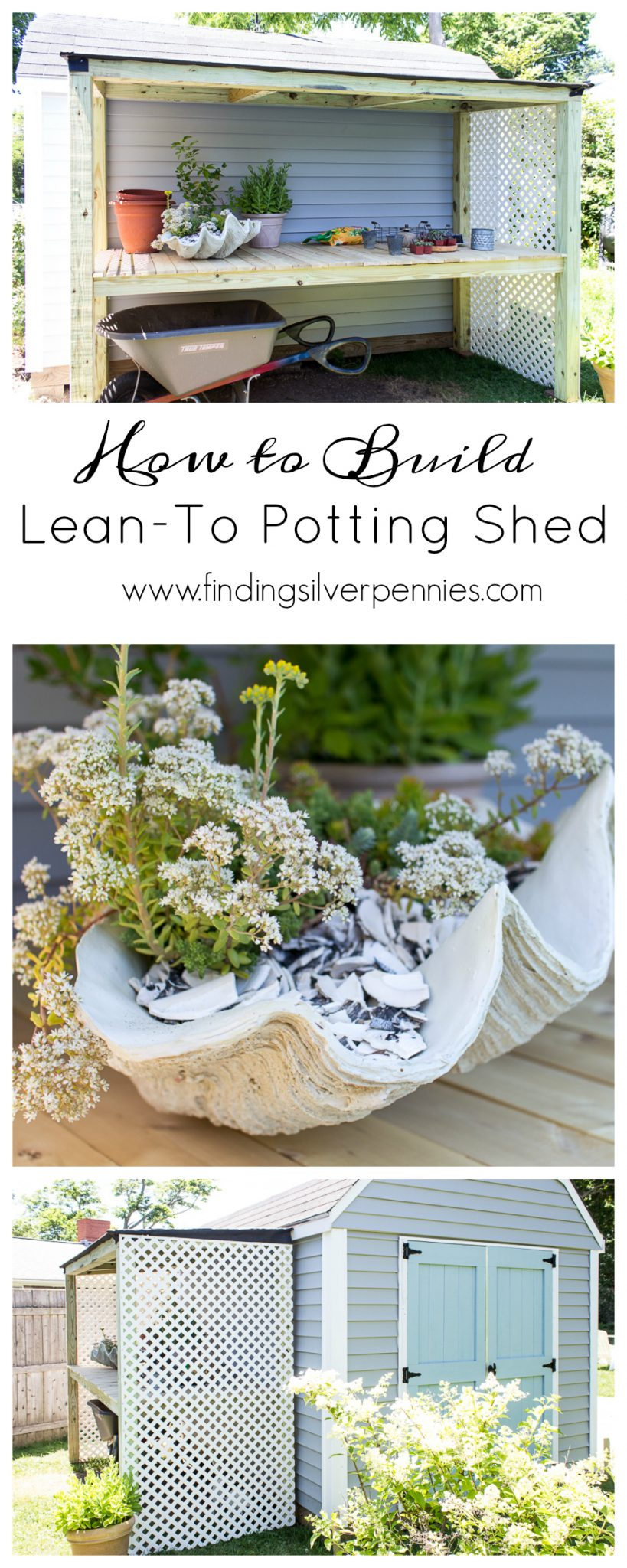 Lean to potting shed build plans finding silver pennies for Potting shed plans diy blueprints