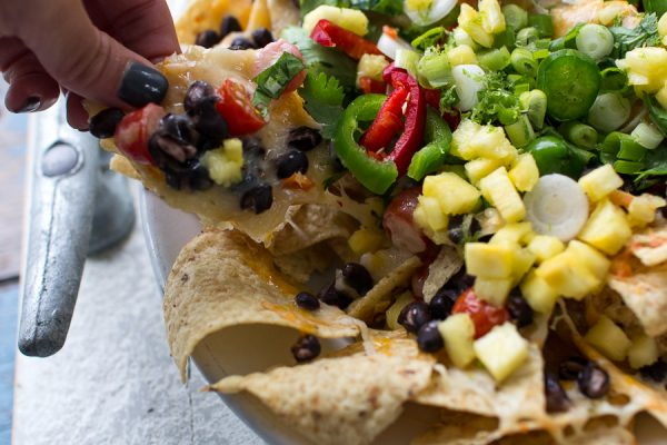Loaded nachos are delicious as a snack or main course