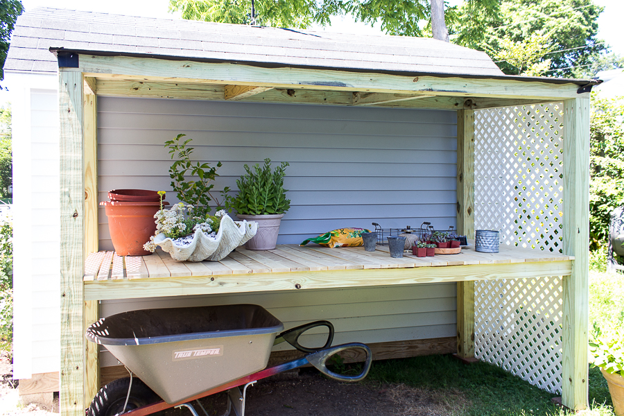 Lean to potting shed build plans finding silver pennies for Potting shed plans free