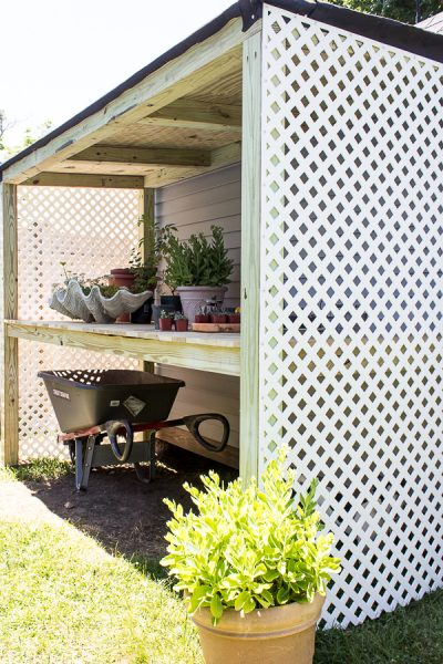 How to Build a Lean-To Potting Bench I Finding Silver Pennies