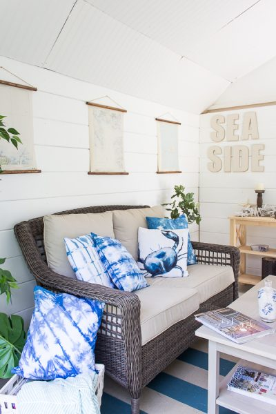 Simple summer styling in the she shed