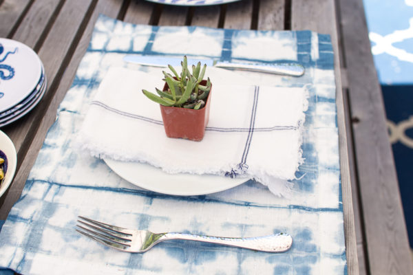 Succulent and Shibori Tablescape (Houzz Feature)