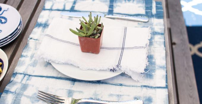 Succulent and Shibori Tablescape (Houzz Feature)