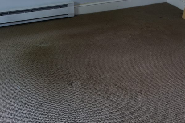 Yuck! The carpet that was in our bedroom