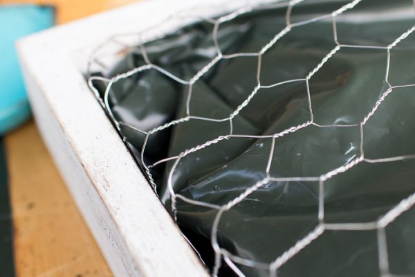 Step by Step Succulent Wall Hanging - secure chicken wire