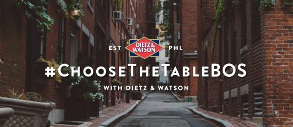 Choose the Table Boston with Dietz & Watson