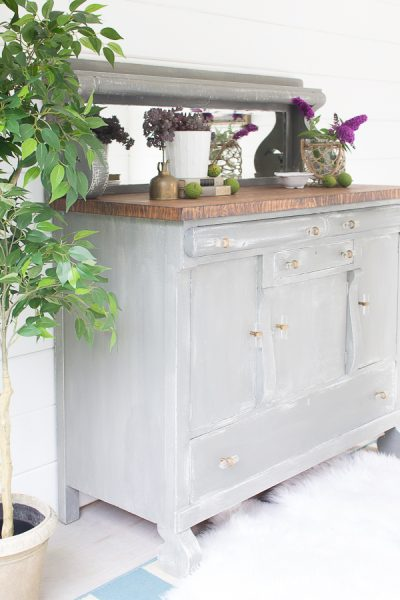 Reviving an old empire buffet with paint.
