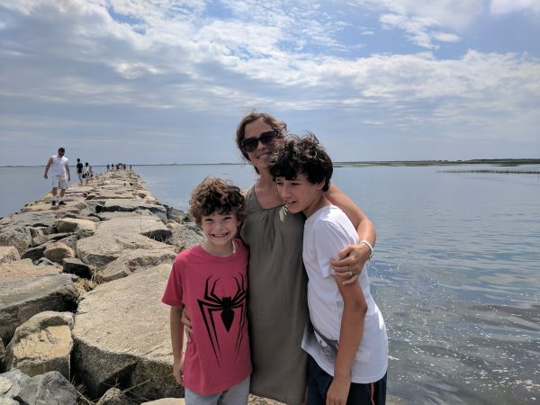 Family day in Provincetown, we loved this jetty