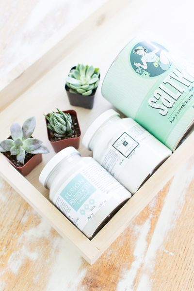All you need to create a coastal inspired succulent wall hanging