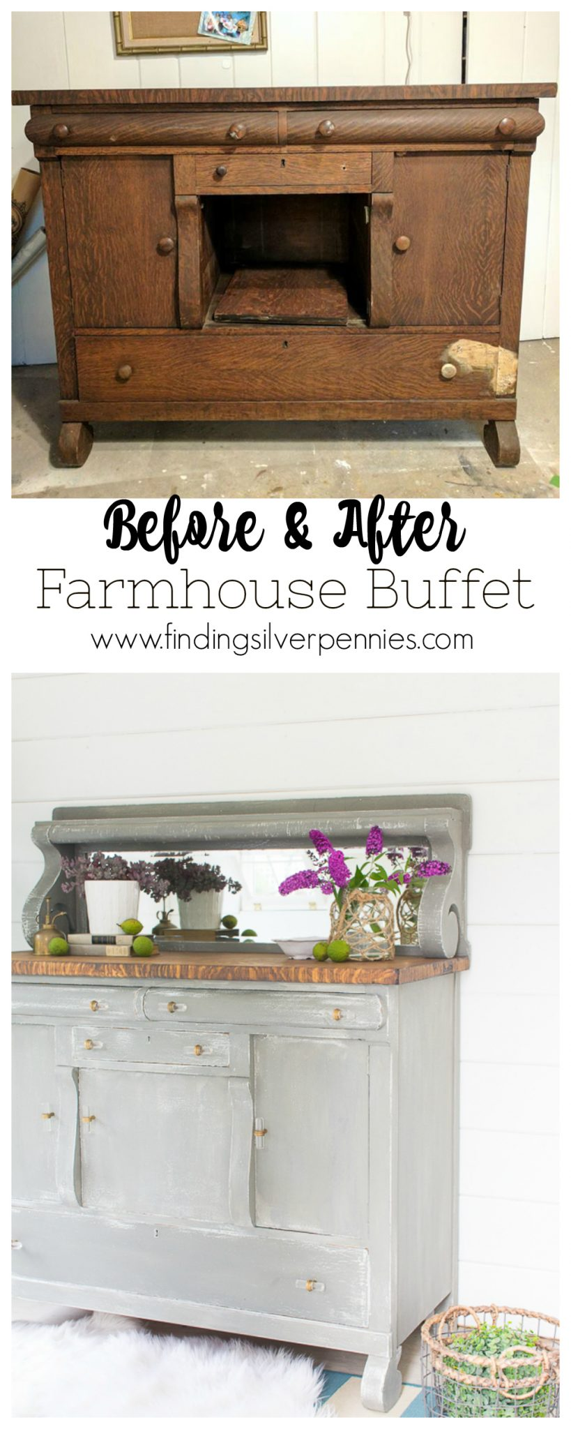 Farmhouse Buffet - Favorite DIYs - Finding Silver Pennies