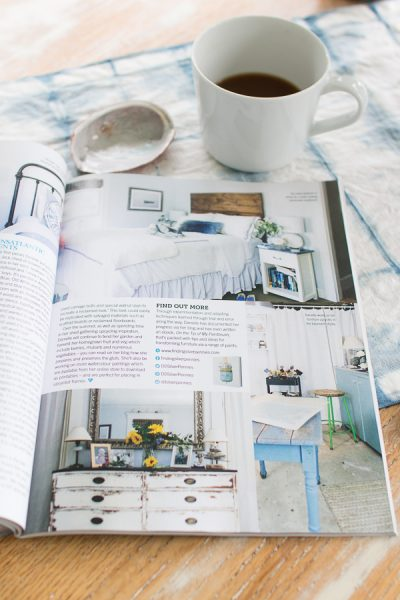 Reloved Magazine feature - see my bedroom, studio and more about my eBook