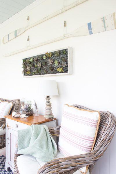 Chippy paint, pastels and succulents