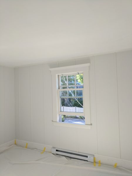 Wall Paint - loving Shiplap color by Magnolia Homes for Kilz