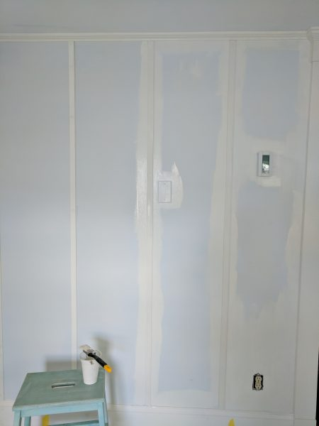 Painting walls with Magnolia Homes' Shiplap by Kilz