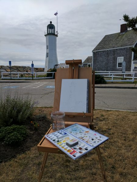 Plein Air at Scituate Light