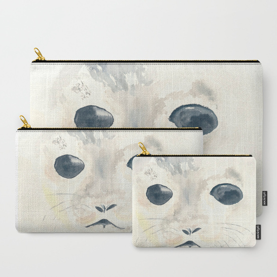 Seal Pouches by Finding Silver Pennies, available in Society6