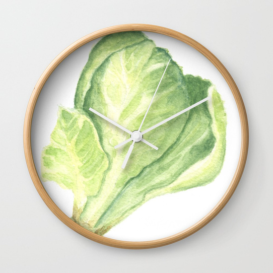 Sprout Clock by Finding Silver Pennies, available in Society6
