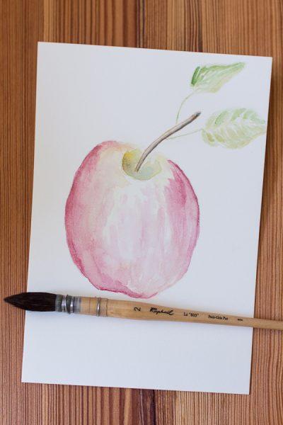 Pretty Honey Crisp Apple Watercolor Free Printable