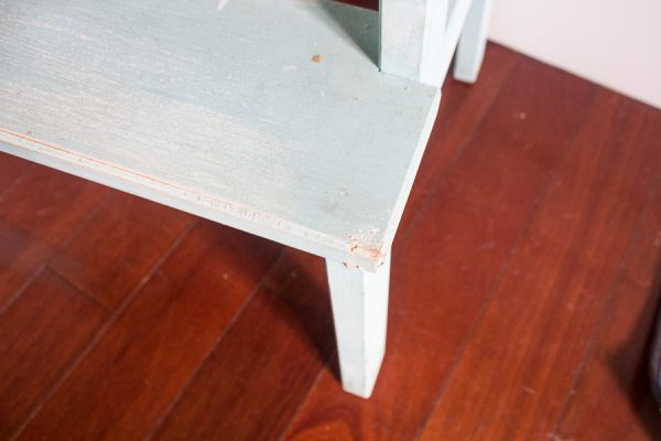 Step Stool with Bite Marks