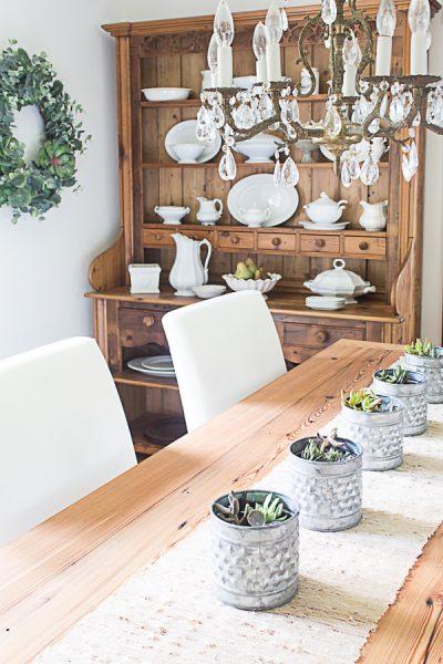 Pretty Farmhouse Style Dining Room