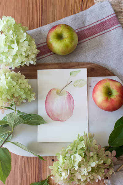 Watercolor Honey Crisp Apple (Free Printable)