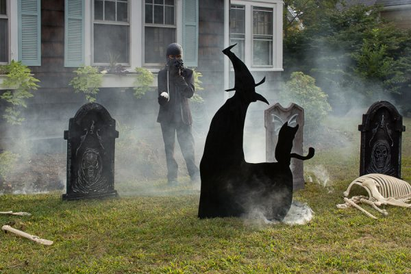 Eerie fog, graves and witches - Halloween