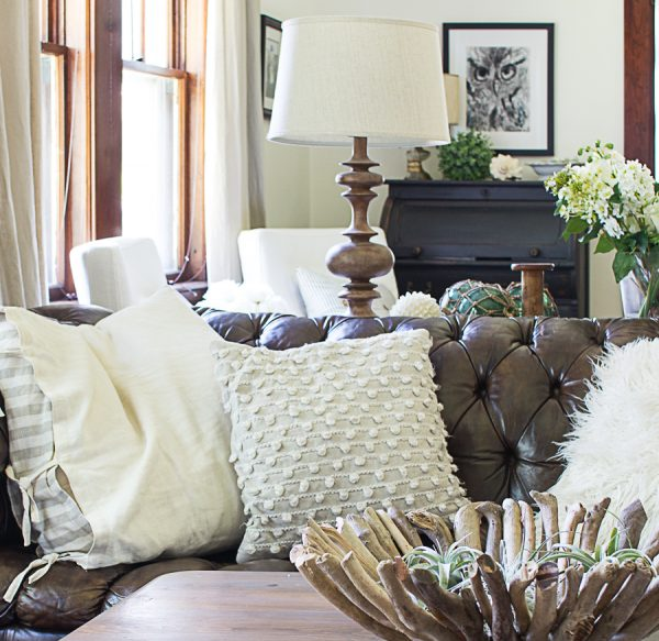Warm Neutrals in a Living Room