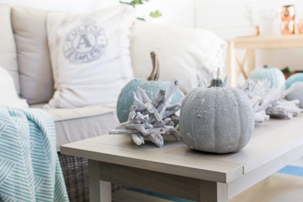Adorable Saltwash Pumpkins give an instant coastal feel to any space