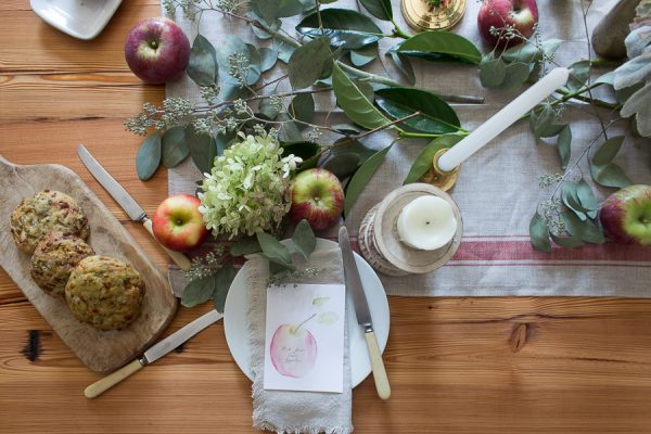 Apple inspired tablescape for Fall