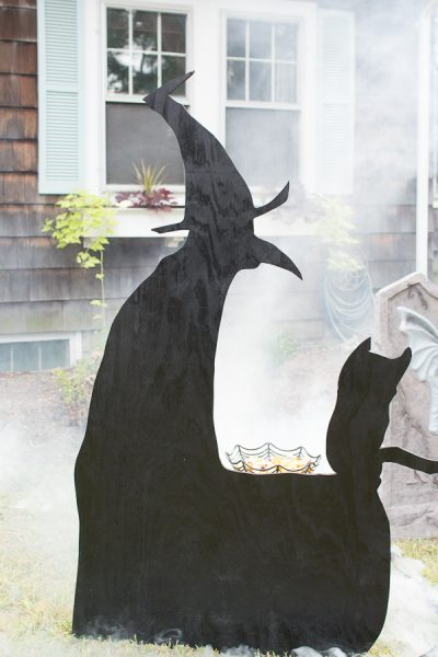 We created this witch silhouette from our son's drawing