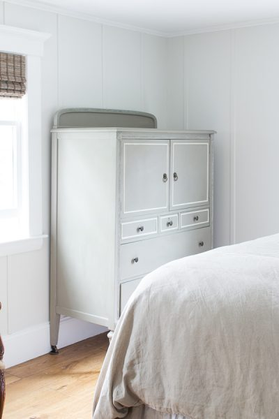 Pretty Chalk Paint Gentleman's Dresser in French Linen and Tinted White Wax