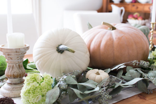 Pretty Pumpkin Fall Tablescape
