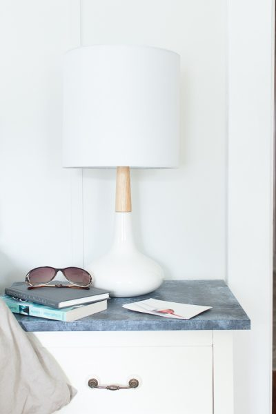 Gorgeous HomeGoods lamps and faux soapstone table