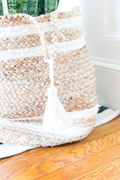 Decorating with Jute Baskets