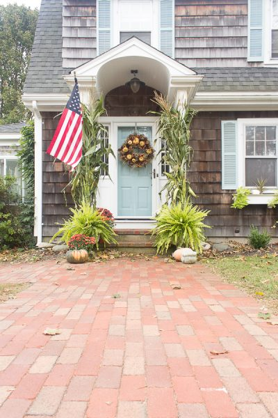 Seaside Home Decorated for Fall