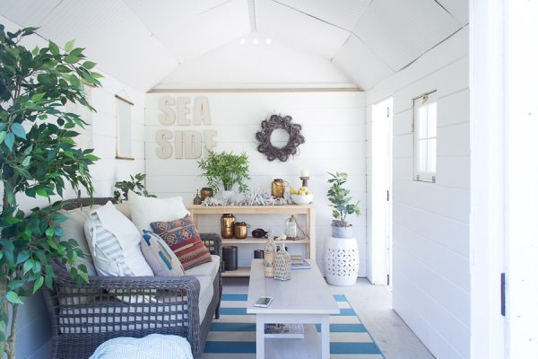 Simple fall touches in the she shed