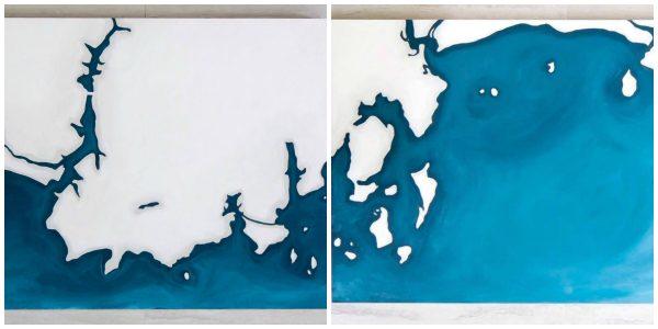 Maine Coastline by Jennifer Murray - 163 Design Company