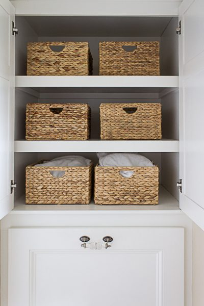 Sea Grass Baskets are Perfect for Towel Storage I Finding Silver Pennies