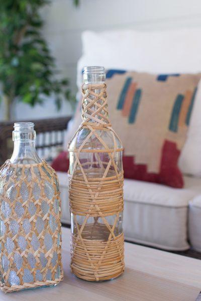 Pretty rattan bottles