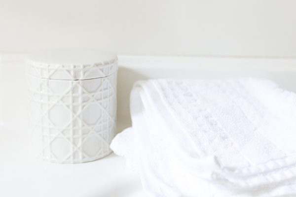 Basketweave Container is perfect for cotton buds I Finding Silver Pennies