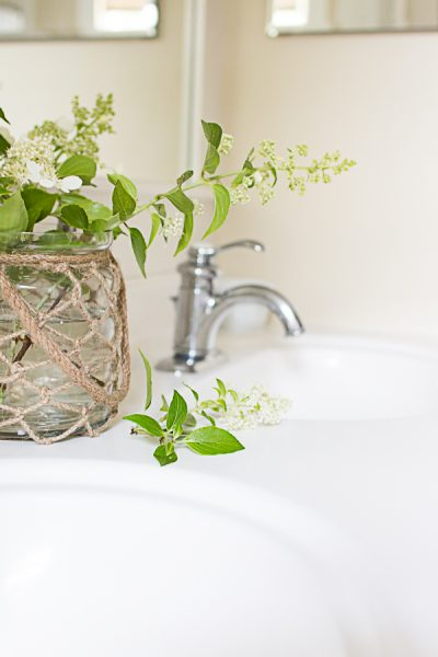 Simple branches in a bathroom I Finding Silver Pennies