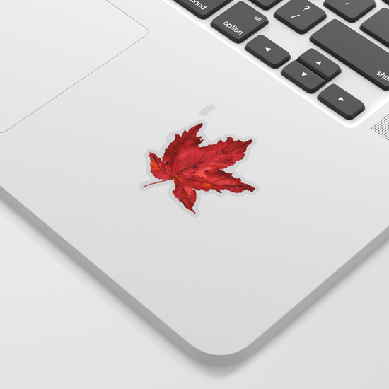Fall Maple Leaf Sticker
