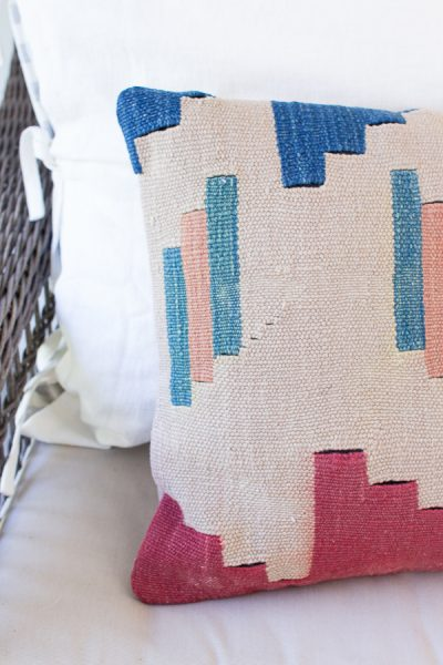 Details of a beautiful kilim pillow