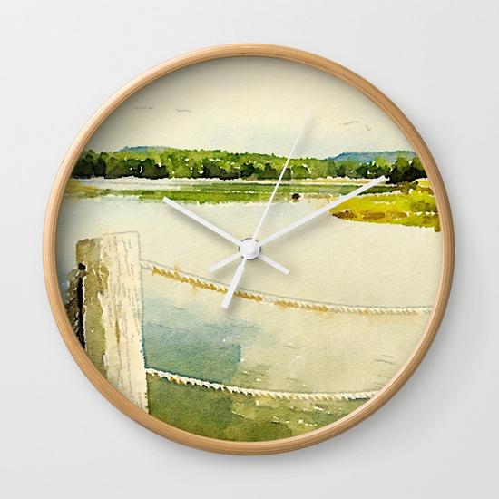Clock by 163 Design Company on Society6