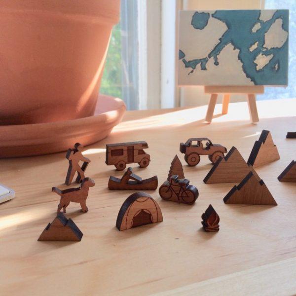 Wooden Desk Sets by 163 Design Company