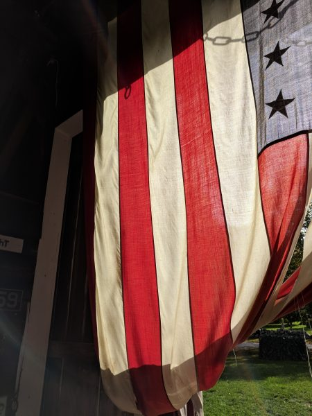 Simple and easy decor - a giant flag for instant Americana I Finding Silver Pennies