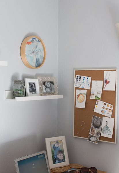 My Studio Space for Blogging and Watercolor I Finding Silver Pennies