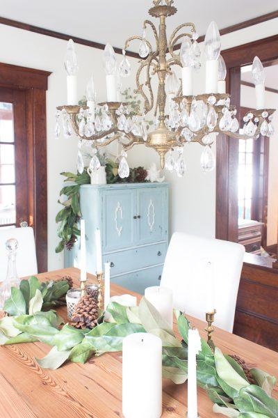 Coastal Christmas Dining Room I Finding Silver Pennies
