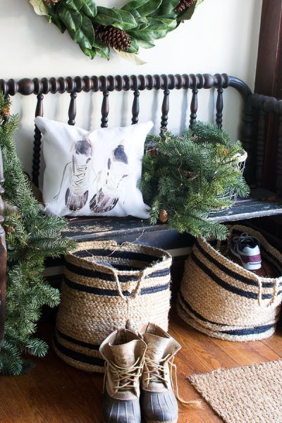 Jenny Lind Bench with Bean Boots I Finding Silver Pennies